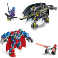 JX 60003 Alliance Mech Avenger Super Hero Batman Super Man 2Pcs Minifigures Building Block Minifigure Toys