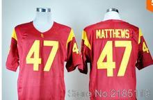 43 Troy Polamalu Jerseys 2 Robert Woods 6 Mark Sanchez 32 OJ Simpson 7 Matt Barkley College Jersey(China (Mainland))