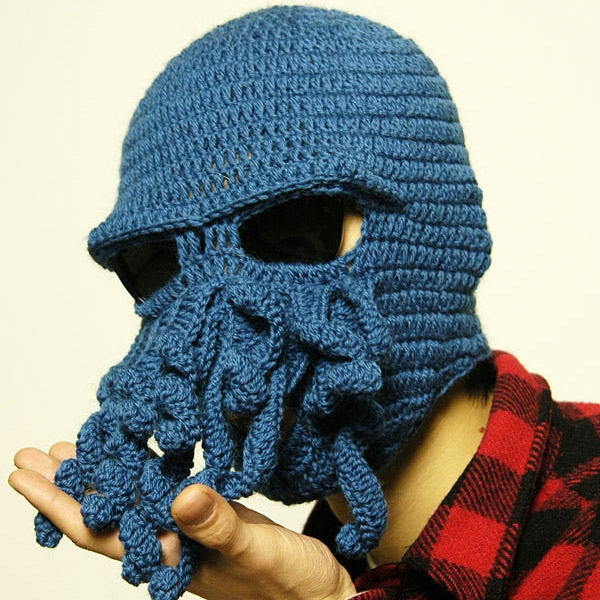 Novelty Cool Handmade Knitting Wool Funny Animal Cthulu Beard Octopus Hats caps Crochet Tentacle Beanies Men Women Unisex Gifts(China (Mainland))