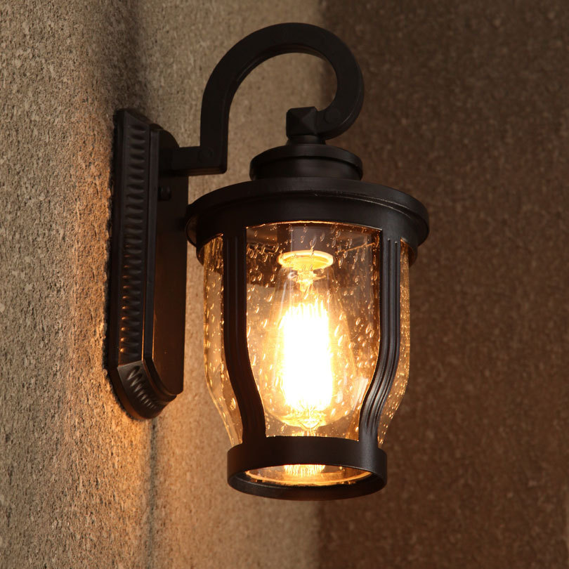 Retro Outdoor Lighting Waterproof Lamps Garden Outdoor Wall 110V 220V Lights European American Park Hotel Raindrop Wall Lamp<br><br>Aliexpress