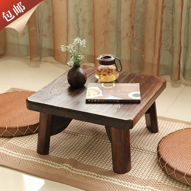 Free shipping Japanese-style wood burning Paulownia windows and tables kang kang table a few side a few small coffee table tatam<br><br>Aliexpress