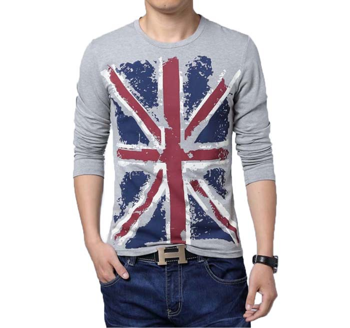 Large size men t shirt 5xl flag printing design t shirt for European mens dress shirts