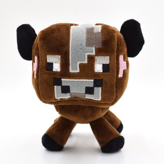 16 см Новый Minecraft Плюшевые Игрушки Minecraft Creeper Minecraft Браун Крупный Рогатый Скот Корова Чучела Животных Куклы Игрушки для Маленьких Детей День Рождения Подарки