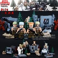 2017 New Doll D174 WW2 East Line Counterattack Militray With Weapons Toys For Children Building Blocks