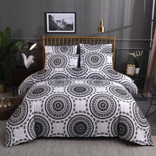 Fanaijia 3d Bohemian bedding Sets queen size Duvet Cover with Pillowcase Comforter Bed Set bed comforter Microfiber Fabric(China)