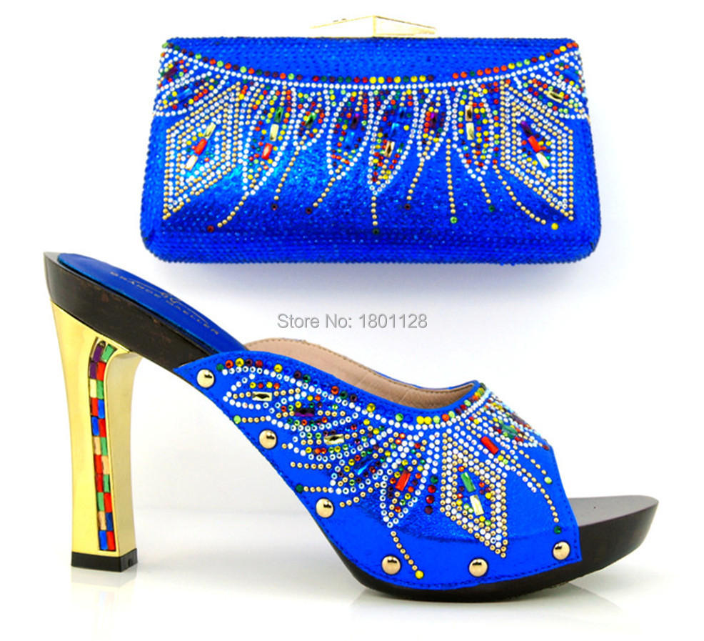 African lady shoes and bag matching set for high quality black,Beautiful plum Italian Shoes And Bag!HLL1-8