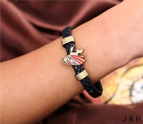 J&R Alloy Bracelets BLEACH Weave Leather Bracelet & Bangle Cosplay - Julie Fashion Jewelry store