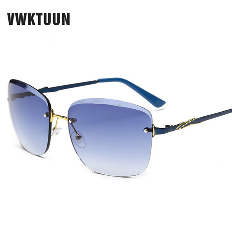 VWKTUUN Sunglasses Women Retro Sunglass Vintage Rimless ...