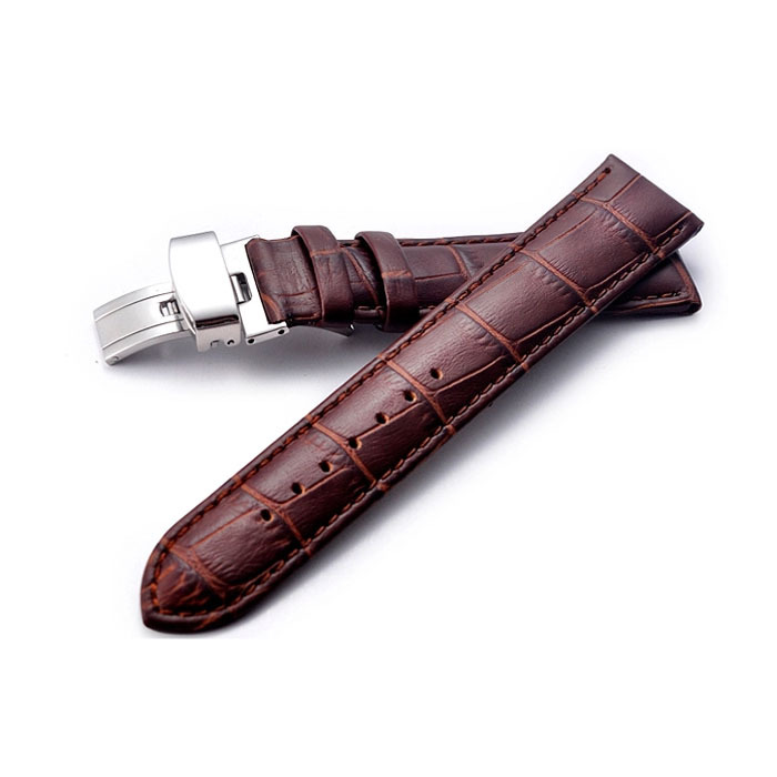 Genuine Leather Watchbands Brown Black Soft Strap 22mm Male Watch Accessories brand - World Online store