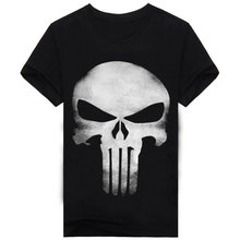 Brand Clothing Summer Skull Print 3D T Shirt Men shirts 100% Cotton T-shirt Dark Souls Punisher Men T-shirts TeeCamiseta A150