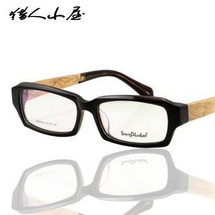 Myopia Women male eyeglasses frame full log quality vintage glasses fashion support wooden - Reading store