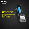 2016 New Original Opus BT C100 Intelligent Battery Charger with LCD Display LI ion NiMh AA