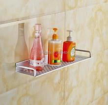 Space Aluminum Bathroom Accessories Storage Holders Basket Shelf Wall Mounted Kitchen Basket Rack BS3219