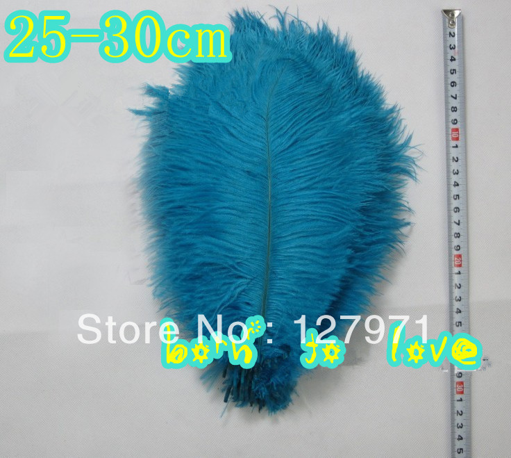 - 10 10-12 inch (25-30cm) turquoise Ostrich Feather Plume Wedding Centerpiece Decoration tang xiao's store