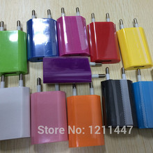 5V EU Plug AC Travel USB Wall Charger Colorful For iPhone 6 Plus 5 4 4S For Samsung Galaxy S3 S4 For HTC Phone Adapter(China (Mainland))