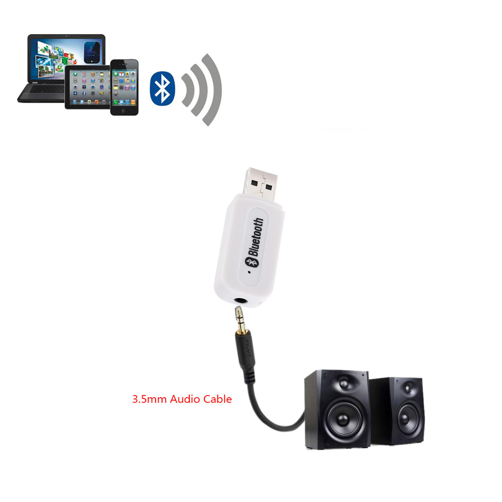 2016 Popular Protable Mini USB Wireless Bluetooth Audio Receiver Hands Free 3.5mm AUX Music