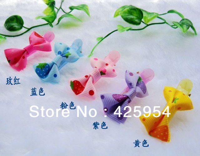 30pcs/lot  Promotions  Plastic Clip Bowknot Baby Hair Clips / Cute Headwear / Multicolor Mixed