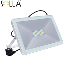 LED Flood Light 100W 50W 30W Reflector Led Spotlight EU UK US Plug Floodlight Waterproof IP66 Outdoor Wall Lamp Garden Projector(China (Mainland))