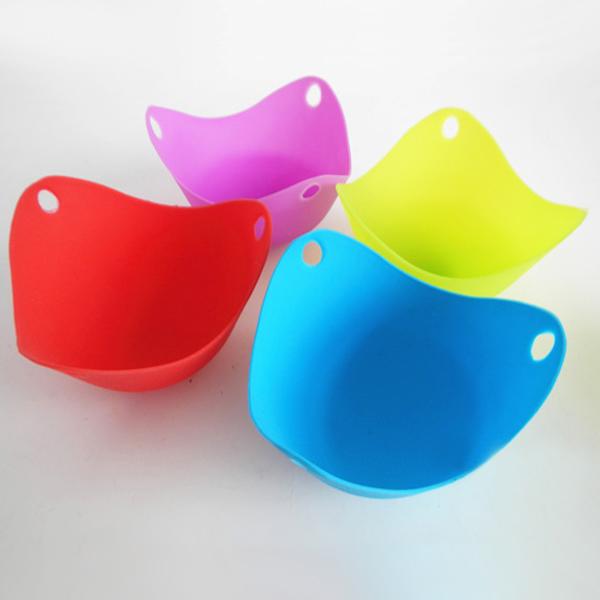 Гаджет  Hot Multi Color Silicone Pancake Egg Baking Cup Poacher Cook Poach Pods Cookware Bakeware Tool Tool None Дом и Сад