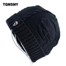 Super cool Skull pattern hats for men beanies Knitted wool plus velvet bone Solid Color Hip-hop Cap winter women's hat gorro cap(China (Mainland))