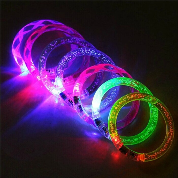 Acrylic glow bracelets flash bracelet neon stick light-emitting luminous hand ring halloween supplies(China (Mainland))