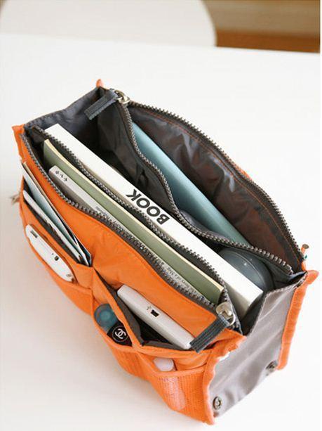 Free shipping Fashion portable handle bag for storage cosmetic make-up handbag organizer bag multi functional