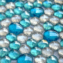 blue mosaic glass beads crystal glass mosaic tile EHM1018 for kitchen backsplash decoration tiles free shipping