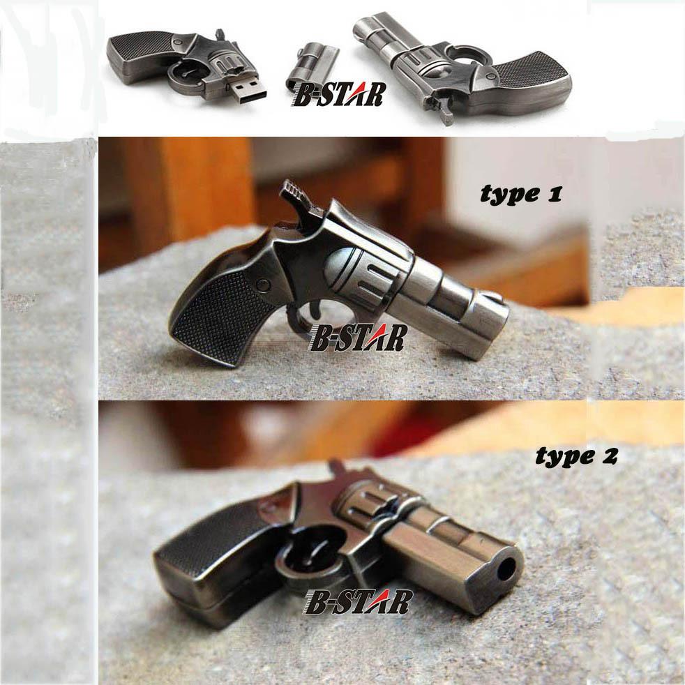 USB Flash Drive Cool Pistol USB 2.0 Flash Drive U Disk to 4 GB 8 GB 16 GB 32 GB flash drive USB22(China (Mainland))