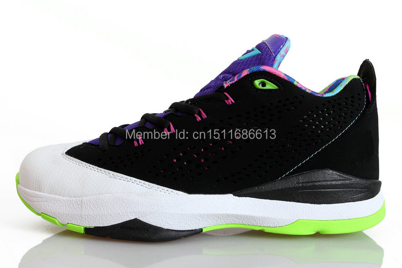 newest aires j cp3 vii 7 low black white sneaker 2014 man basketball shoes hot sale cp3 vii 7 low original box and accesories(China (Mainland))
