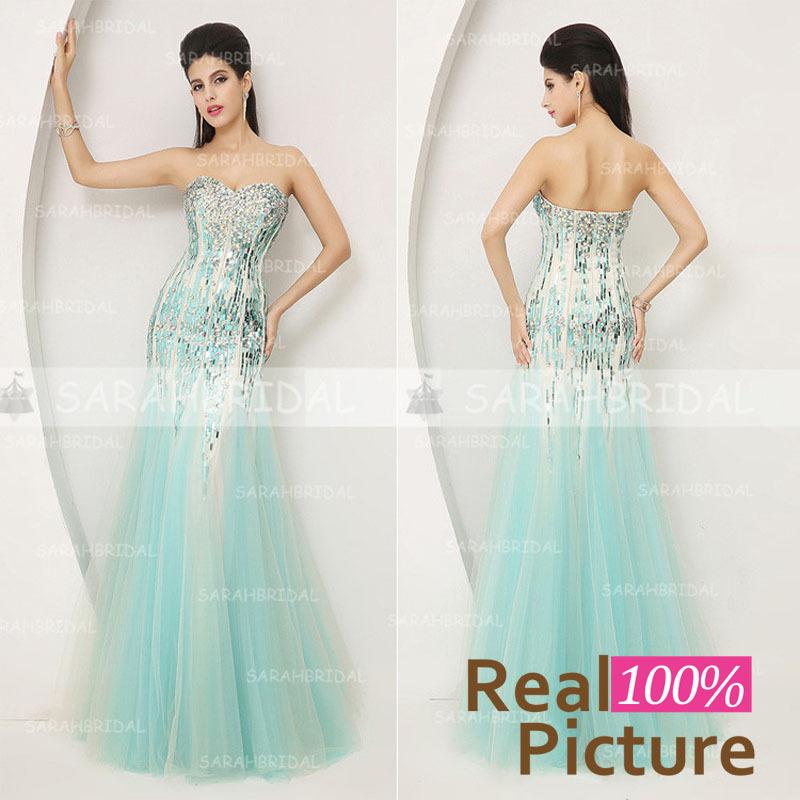 Вечернее платье Sarahbridal 2015 vestido largos AJ004 вечернее платье mermaid dress vestido noiva 2015 w006 elie saab evening dress