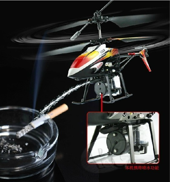 Water Jet rc Helicopte  Radio Control with Gryo and LED 3.5ch Infrared Control 360 Degrees USB Charger Item No.V319