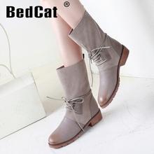 Envío gratis del tobillo corta natrual reales cuero genuino del alto talón mujeres nieve zapatos de la bota R5396 tamaño del EUR 32-43(China (Mainland))