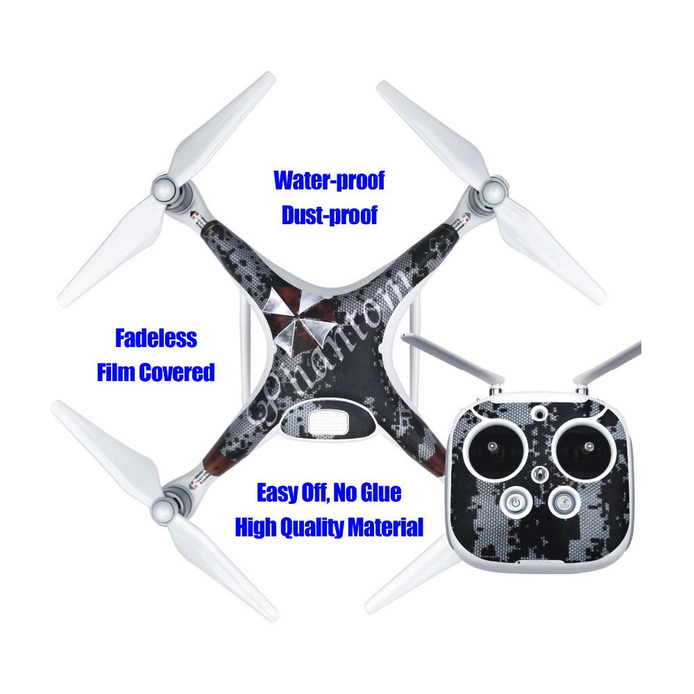 PVC Sticker Skin Decal for DJI Phantom 4 Quadcopter Easy Off Waterproof Drone with Camera RC Helicopter Quadrocopter Drones