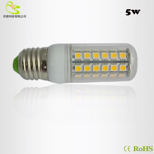 Free shipping G4 5W Led Chandelier light SMD 5050 Led corn lamp 220V  Led Bulb 5W