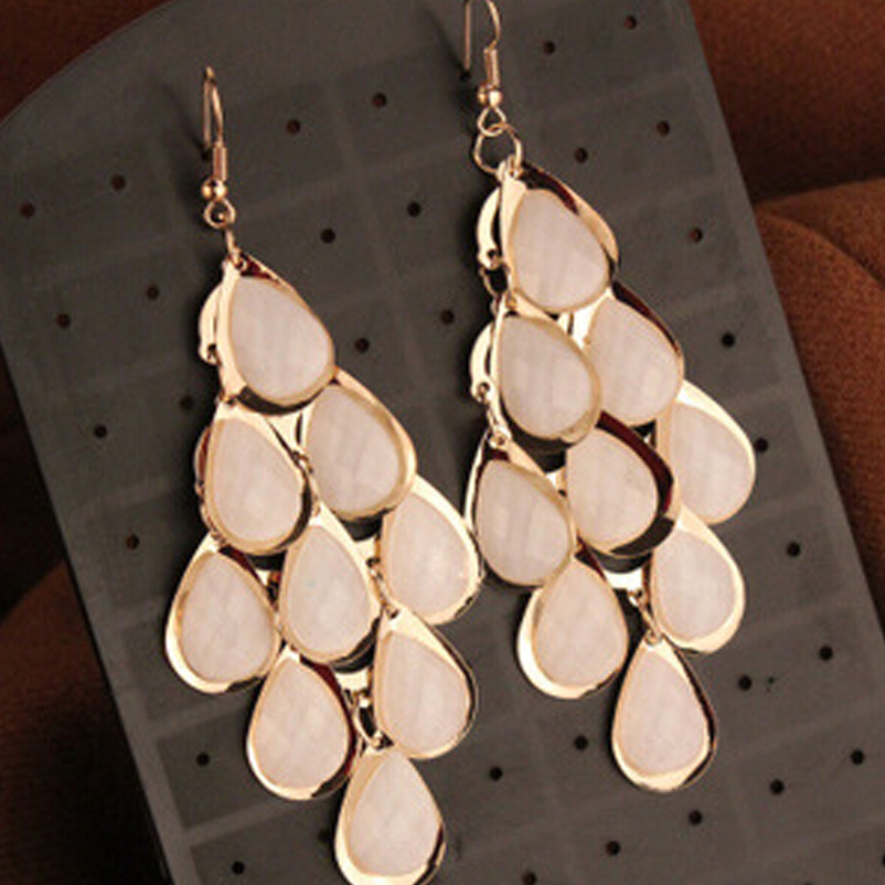Brand Fashion Vintage Multilayer Tassel Water Droplets Long Earrings Women Jewelry boucle d'oreille XY-E347 - XY Company (Min order $8 store)