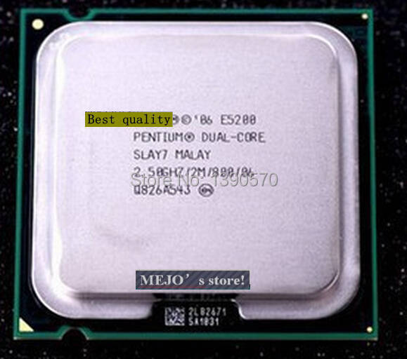 Best quality E5200 For Inter Pentium Dual Core Desktop Processor 2.5GHz 2M 800 MHz Socket 775 scrattered(China (Mainland))