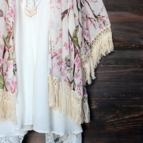 NEW-Fashion-Women-Boho-Floral-Lace-Beach-Swimwear-Kaftan-Cardigan-Cover-Up-Dress