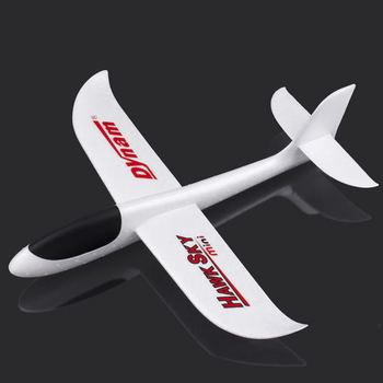 100% Brand New Mini flight foam Plane DY8946 HawkSky Hand throw Airplane aircraft Plane Toy White Easy to Play