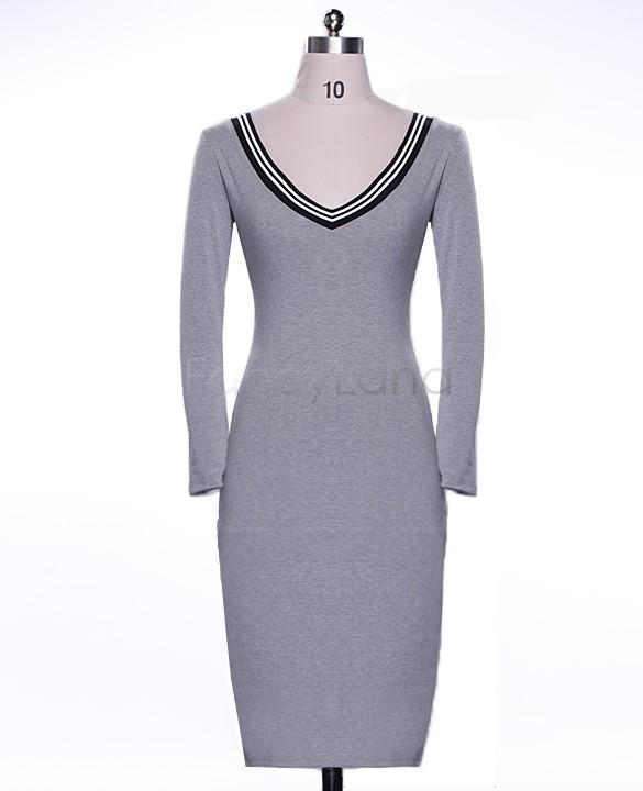 Женское платье Brand New##F_L V Bodycon 22 ### женское платье new brand v
