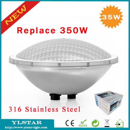 Free shipping ac12v cob 35w ip68 par56 led piscine for Ampoule piscine par56