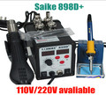 Free shipping New Product SAIKE 898D Upgraded from SAIKE 898D Hot Air Gun Solder Iron Desoldering
