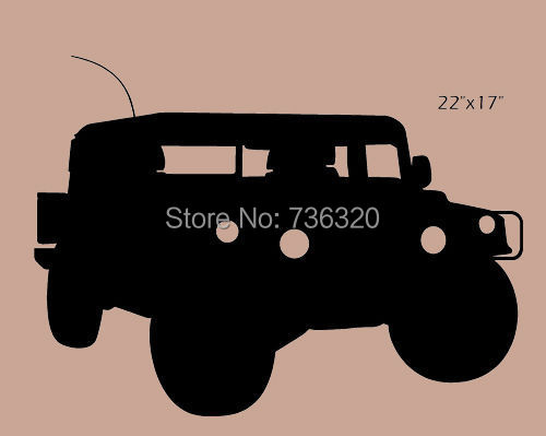 2015 Car Vinyl Wall Decal Hummer Humuvee Military Art Sticker Bar Home Decoration Kid's Room Bedroom Decorative - 365DAYS SWEET HOME (HOME Artist-Vicky Li store)