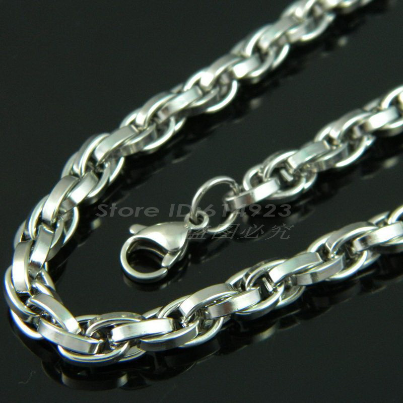 silver brave necklace stainless steel chunky