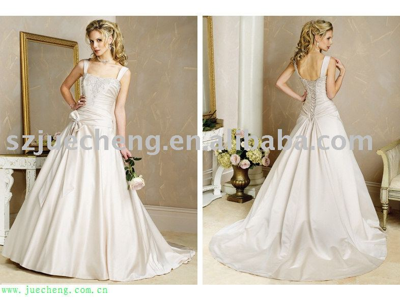 Embroidered lace up back butterfly tie stain bridal for Butterfly back wedding dress