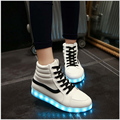 High Top Led Shoes For Men Women New Winter Luminous Boots For Adults Light Up Casual