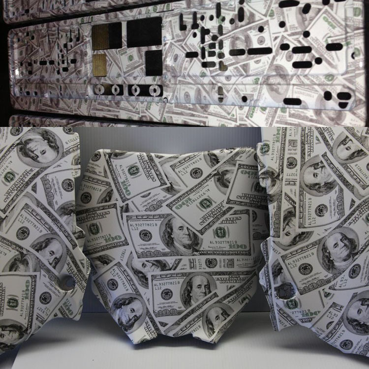 Water Transfer Printing Hydro Graphics Film - Mad Money/GY300 WIDTH 50CM