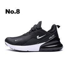 Nueva llegada de moda Zapatillas de deporte de los hombres cojín de aire y Flyknit tecnología Zapatos Para Correr ligera y transpirable DampingMen Zapatos casuales Zapatos(China)