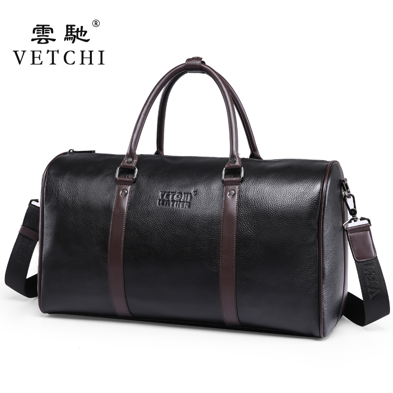 Luxury First Layer Cowskin men's travel bags Vintage Brand Genuine Leather handbags Big men Business Luggage bag 2016 New - Fashion Queen store