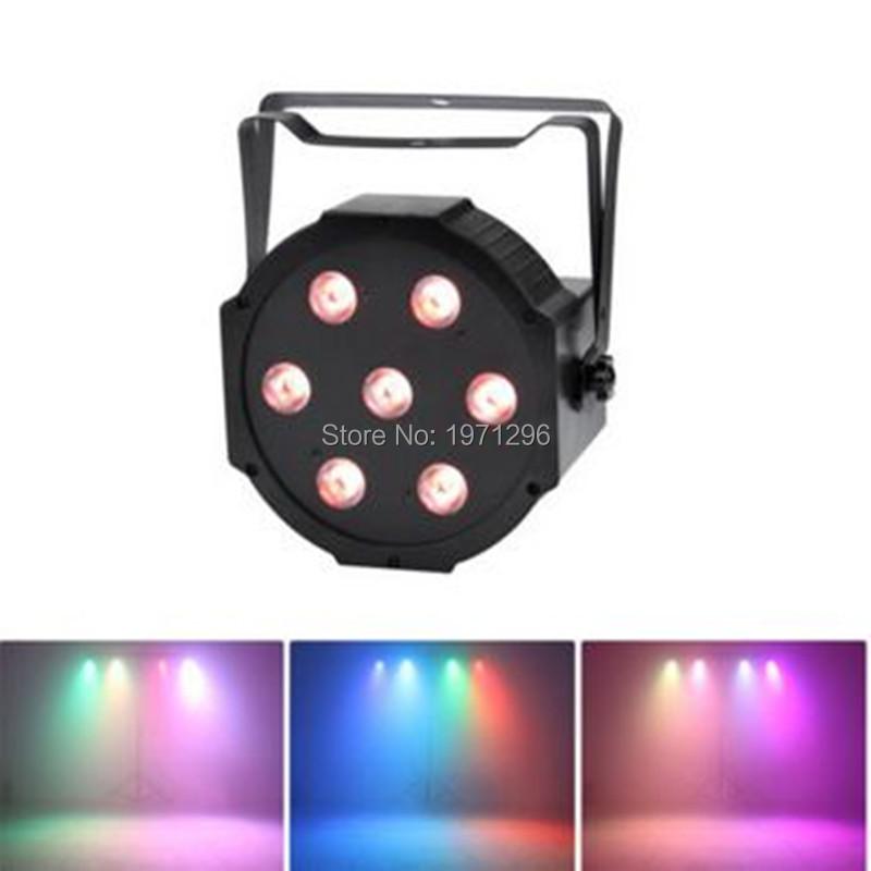 7*12W LED CAN FLAT PAR64 DMX LIGHT RGBW DJ Wedding Stage Light L7(China (Mainland))