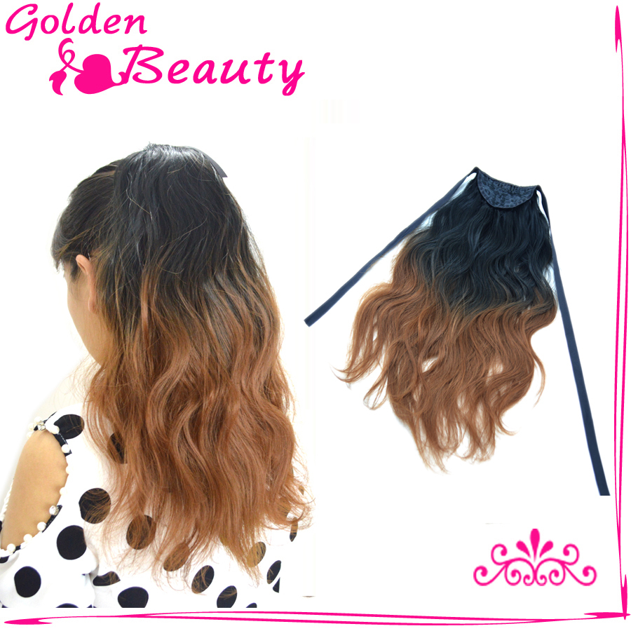 Free Shipping Cheap Blended Ponytail Hair Mix Black And 30 Color Fashion Style Clip In Hair